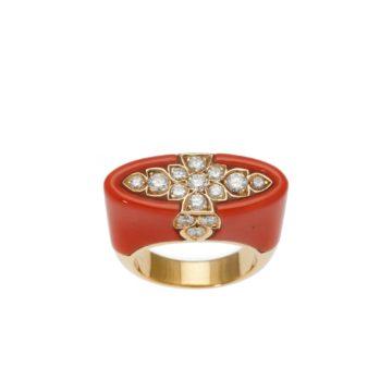 Cartier koraal ring, na 1980 4