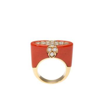 Cartier koraal ring, na 1980 3