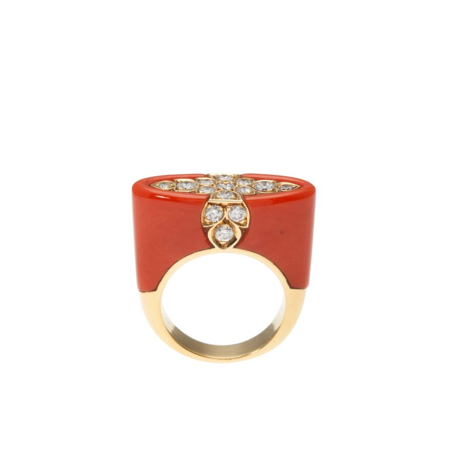 Cartier koraal ring, na 1980 3