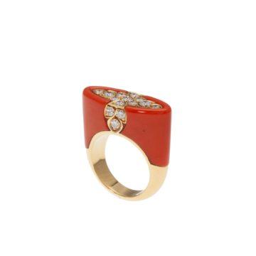 Cartier koraal ring, na 1980