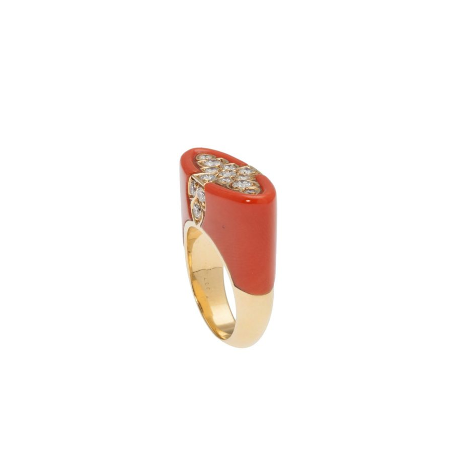 Cartier koraal ring, na 1980 2