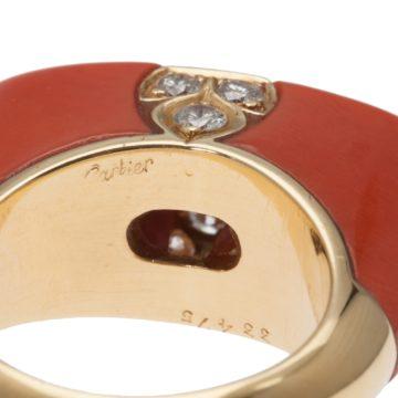 Cartier koraal ring, na 1980 5