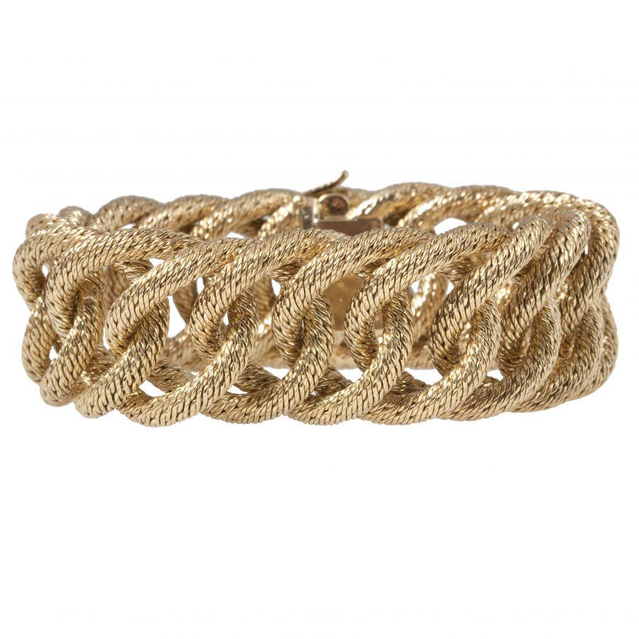 hermes geweven gouden armband gourmet
