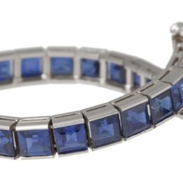 tiffany saffier riviere armband 1950s