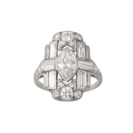 art deco diamant ring 1920s