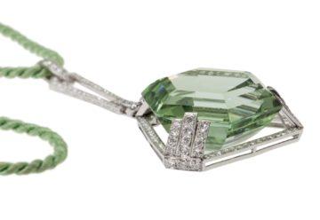 art deco hanger groene beryl 1920s