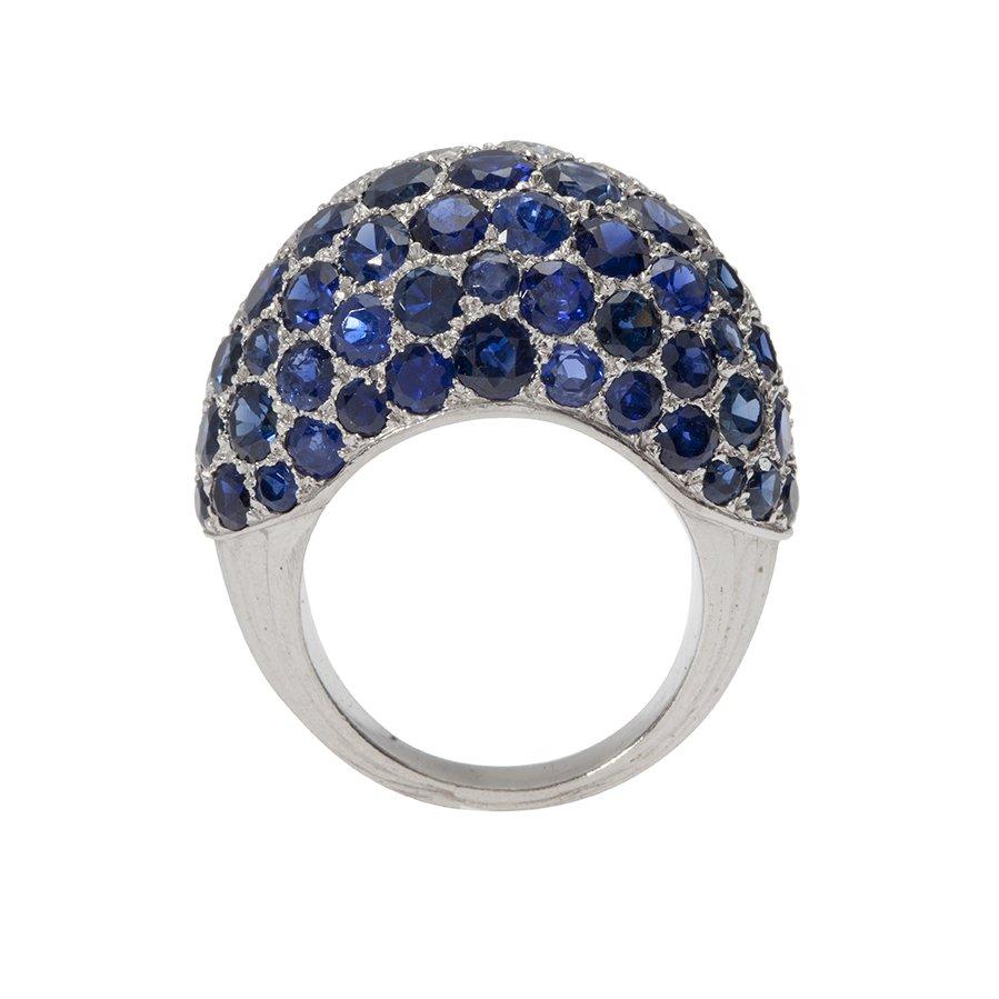 cartier ring diamant saffier 1960s