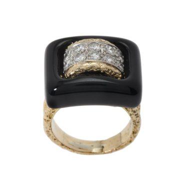 van cleef & arpels ring onyx diamant 1970s