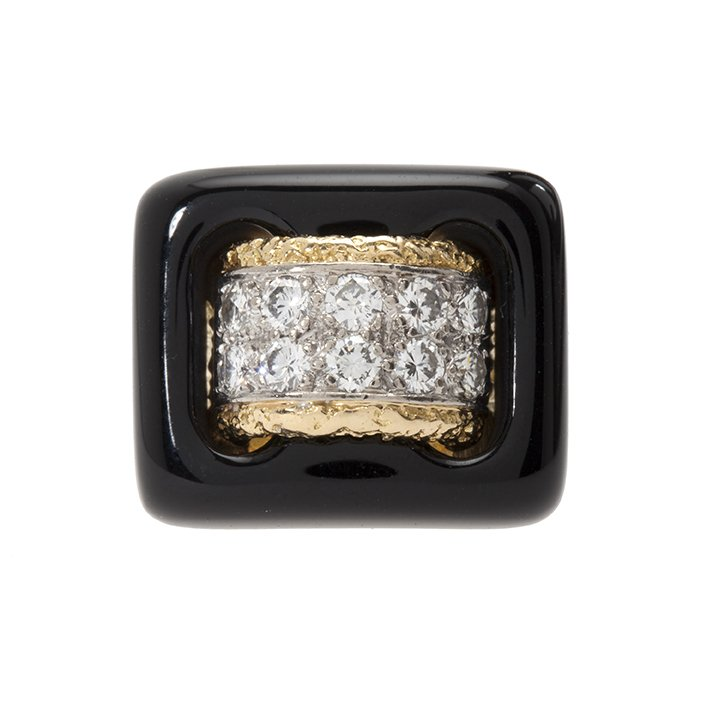 van cleef & arpels ring onyx diamant 1970s