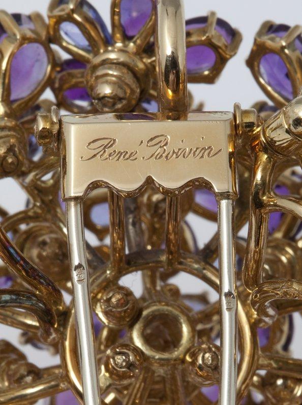 rené boivin bloem broche 1980s