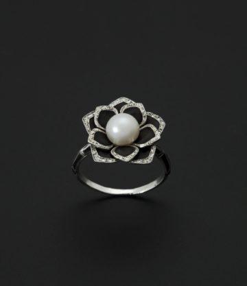 art deco ring lotus steltman 1920s