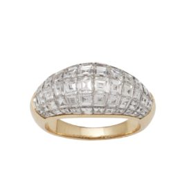 ring van cleef & arpels serti invisible diamant