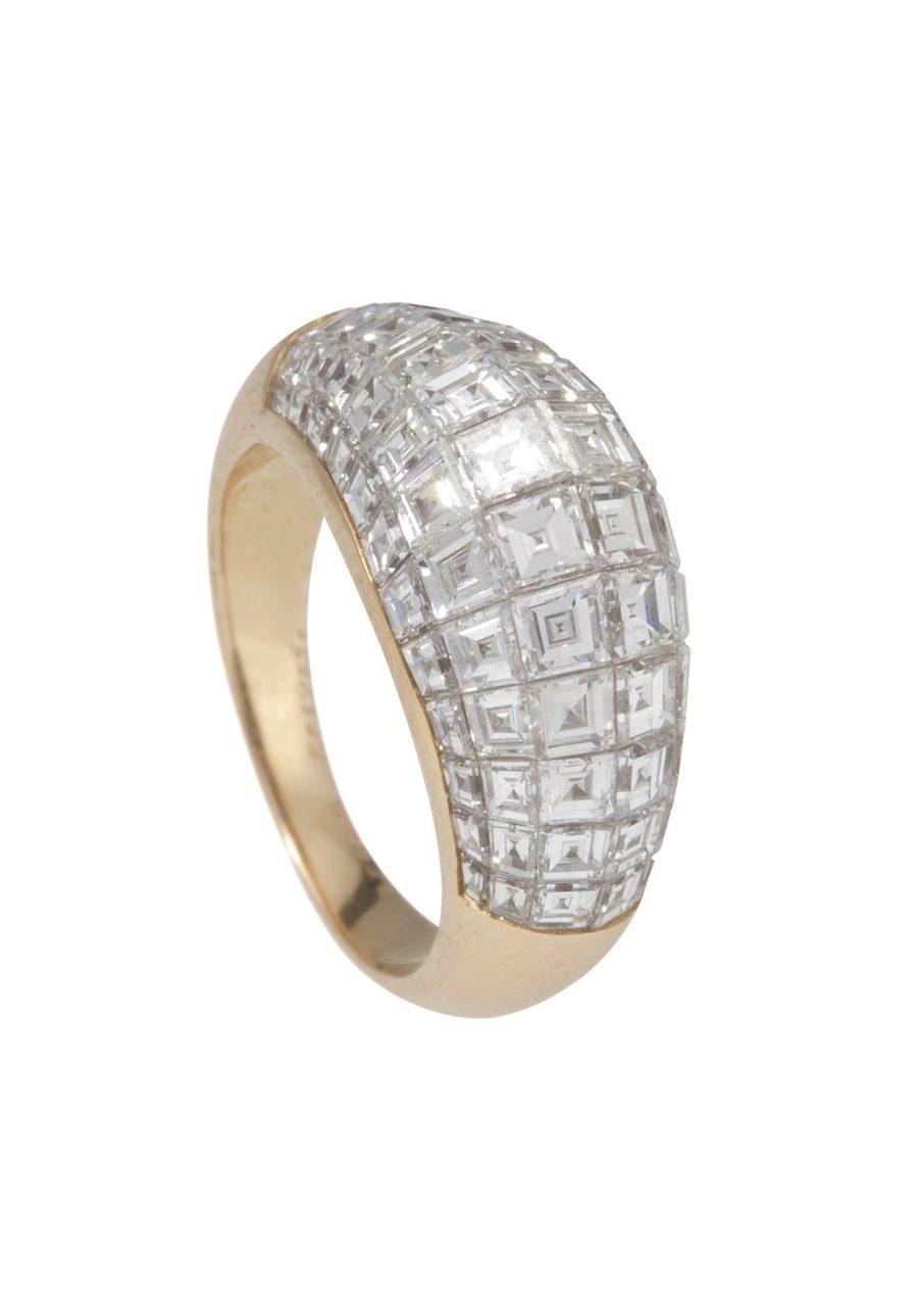 ring van cleef & arpels serti invisible diamant