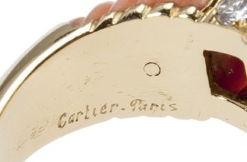 ring cartier koraal 1970s