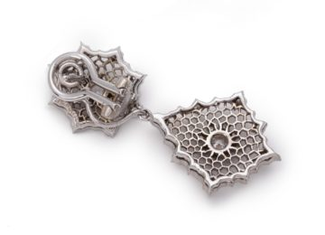 oorbellen buccellati italié witgoud diamant