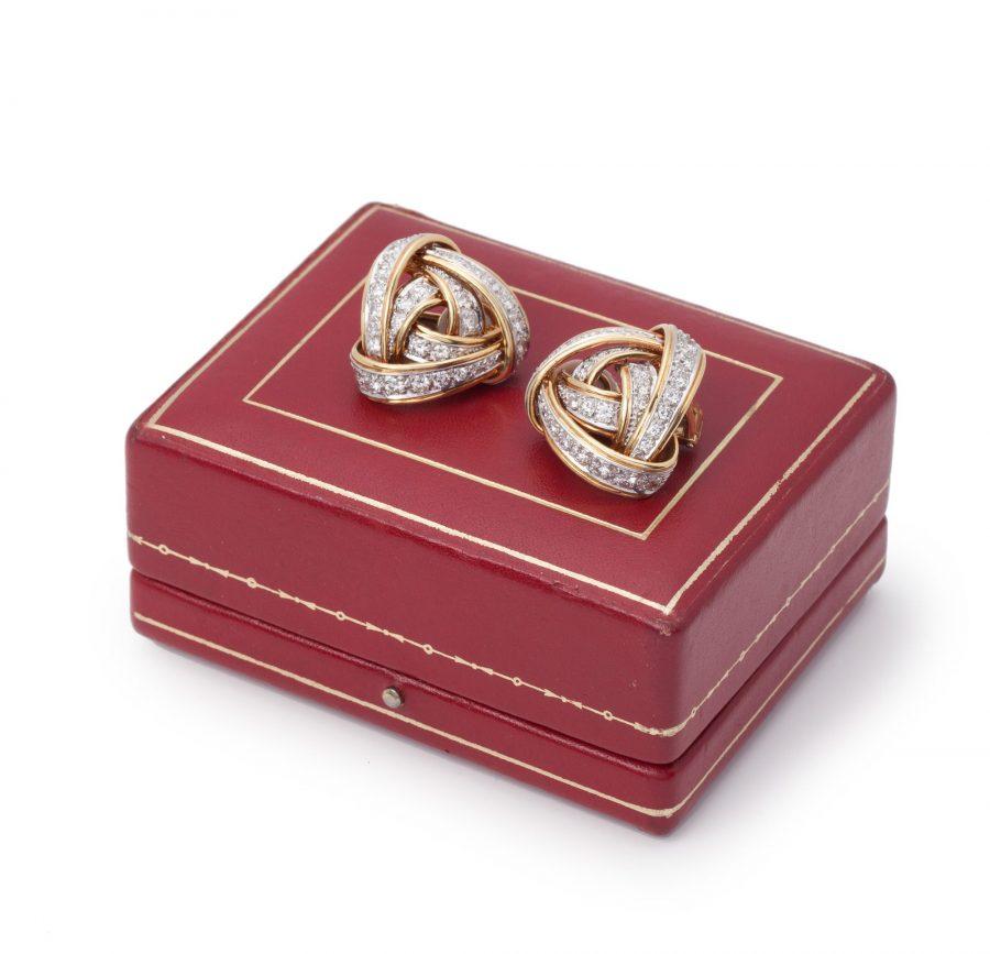 oorbellen cartier diamant