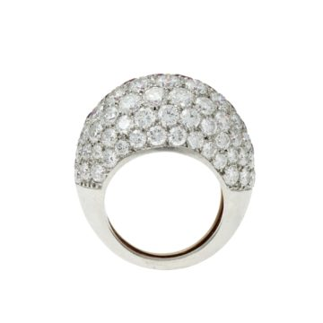 cartier robijn diamant bolle ring 1960s