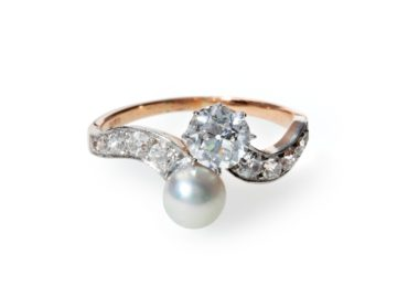 slagring diamant natuurlijke parel van kooten amsterdam belle epoque 1895