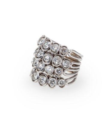 René Boivin 4 corps diamant ring ca 1950