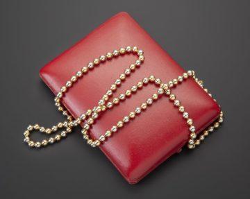 Cartier sautoir geel- en witgoud 1973
