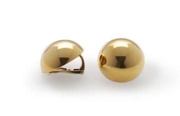 Cartier halfbolle oorclips 1975