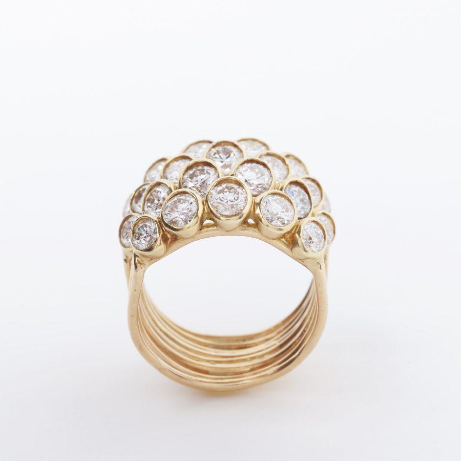 Rene Boivin quatre corps ring diamant parijs