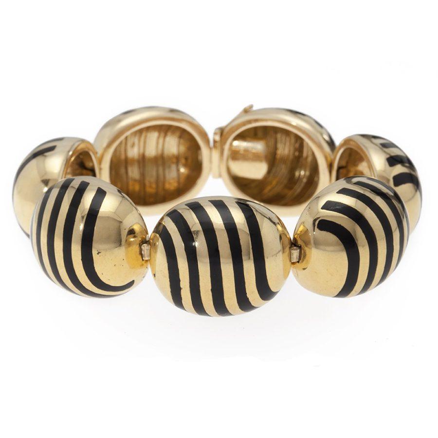 cartier bracelet black enamel 1960s