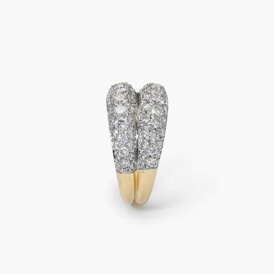Cartier bombe diamanten ring