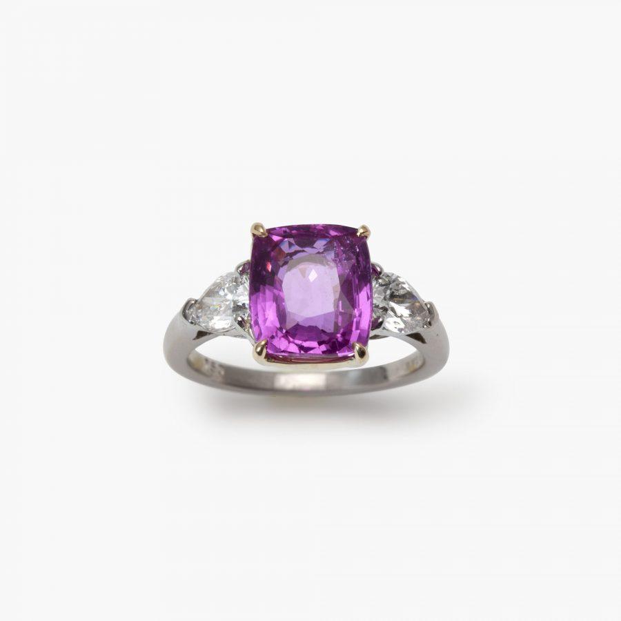 Bvlgari roze saffier ring onverhit
