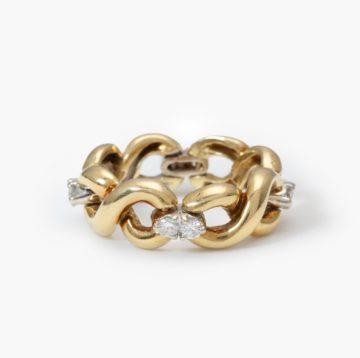 Flexibele gouden ring