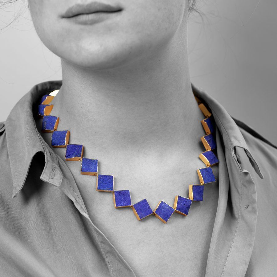 Michael Becker unpolished lapis lazuli necklace