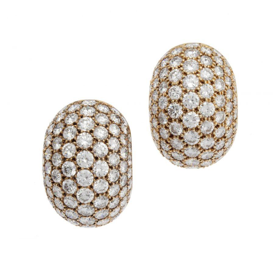 Van Cleef & Arpels diamant bolle oorclips