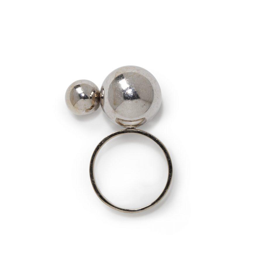 Friedrich Becker kinetische ring witgoud jaren 70