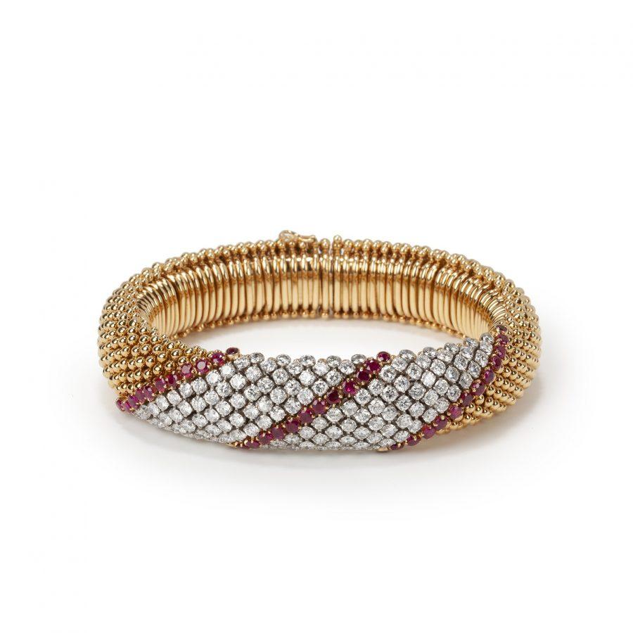 Van Cleef & Arpels Pelouse armbanden diamant robijn
