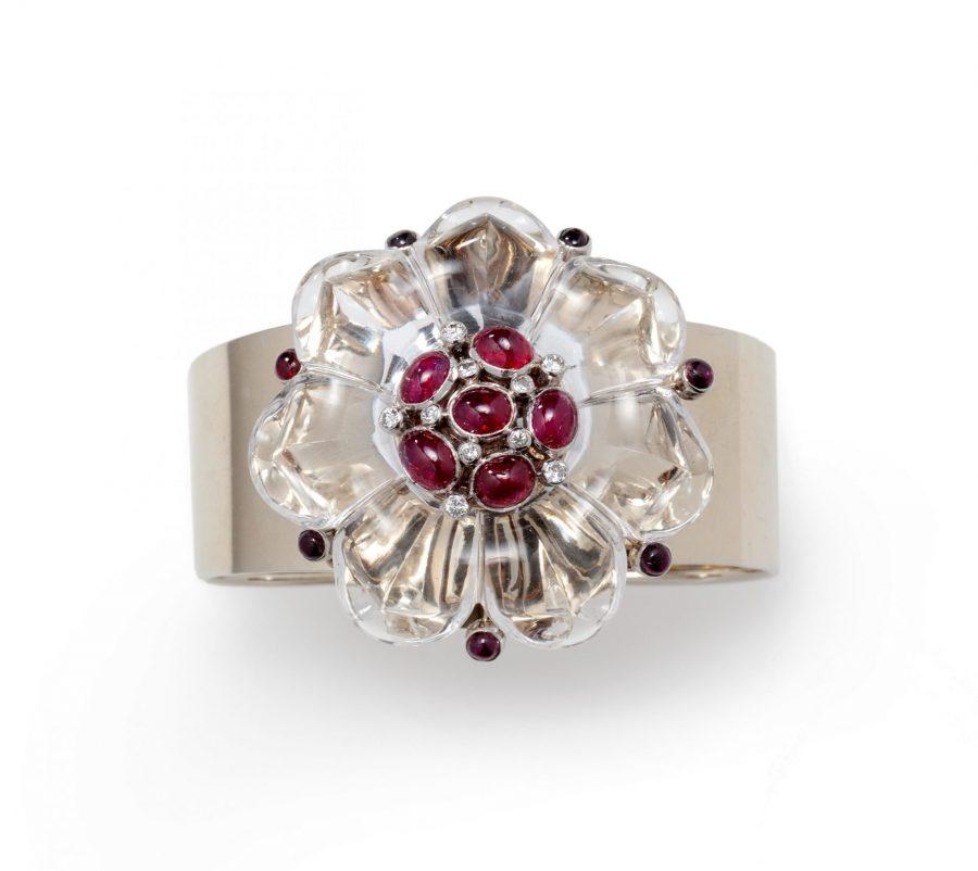Suzanne Belperron bergkristal broche armband