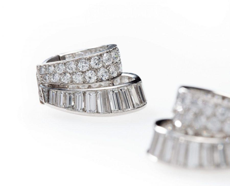 Van Cleef & Arpels diamant oorclips ringen