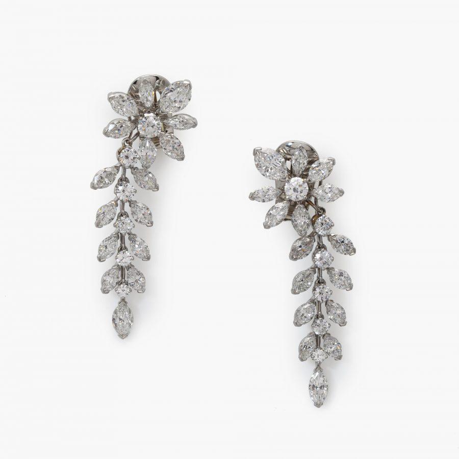 Van Cleef & Arpels diamant oorbellen bloemen takjes