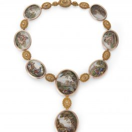 Micromozaïek collier 19e eeuw