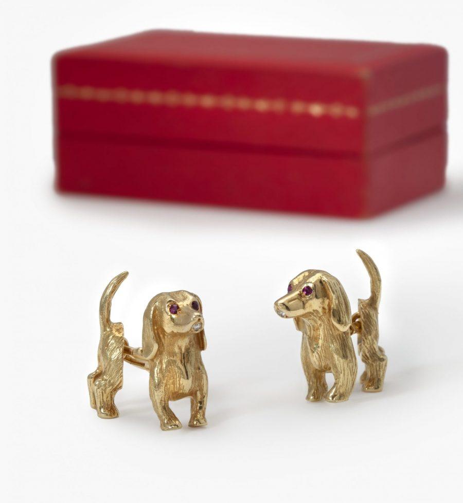 Cartier manchetknopen teckels