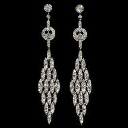 Lacloche diamant Art Deco oorbellen ca 1925