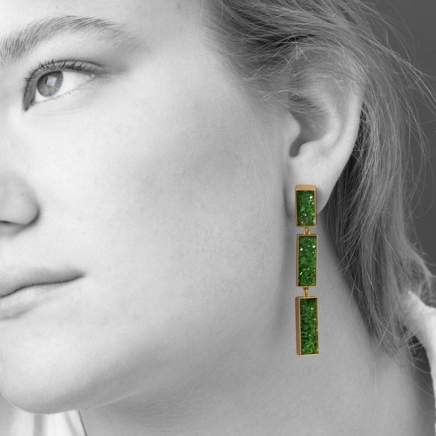Michael Becker uvarovite earrings