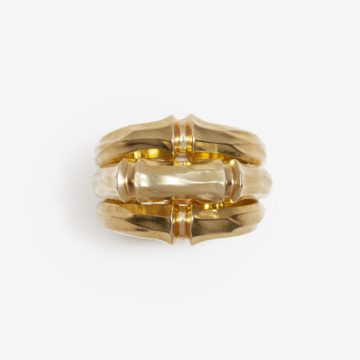 Cartier bamboo triple ring