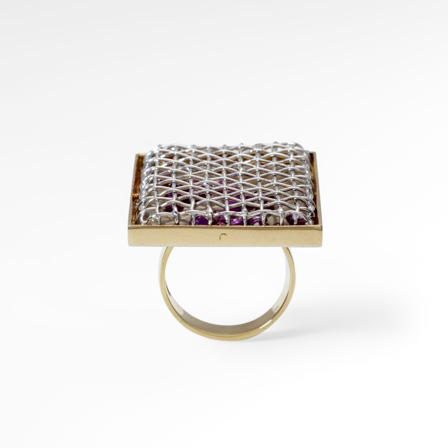 Meret Oppenheim ruby cage ring