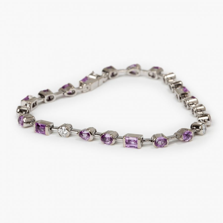 Cartier Meli Melo diamond and pink sapphire bracelet