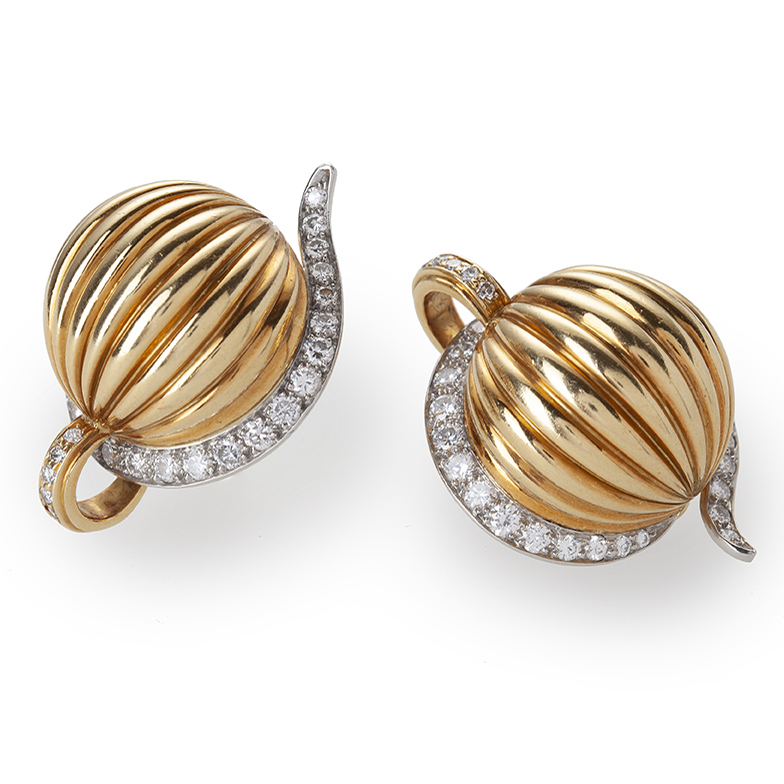 cartier melon clip earrings