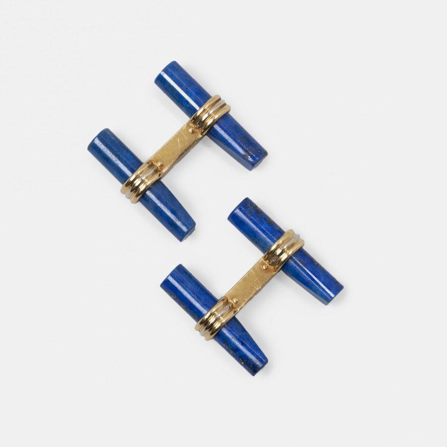 manchetknopen Van Cleef & Arpels lapis lazuli staafjes