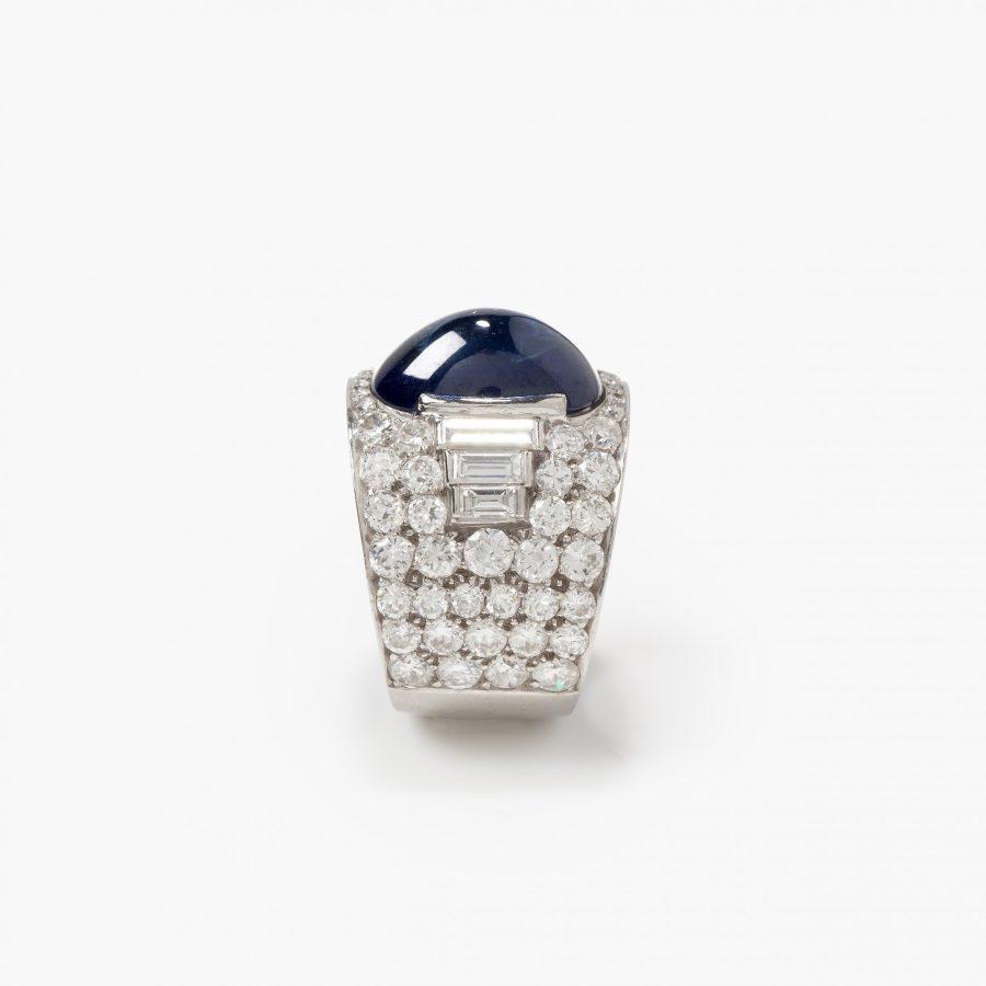 Bvlgari Trombino ring saffier diamant ca 1950