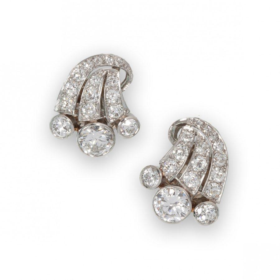 oorclips diamant jaren 50 nederlands