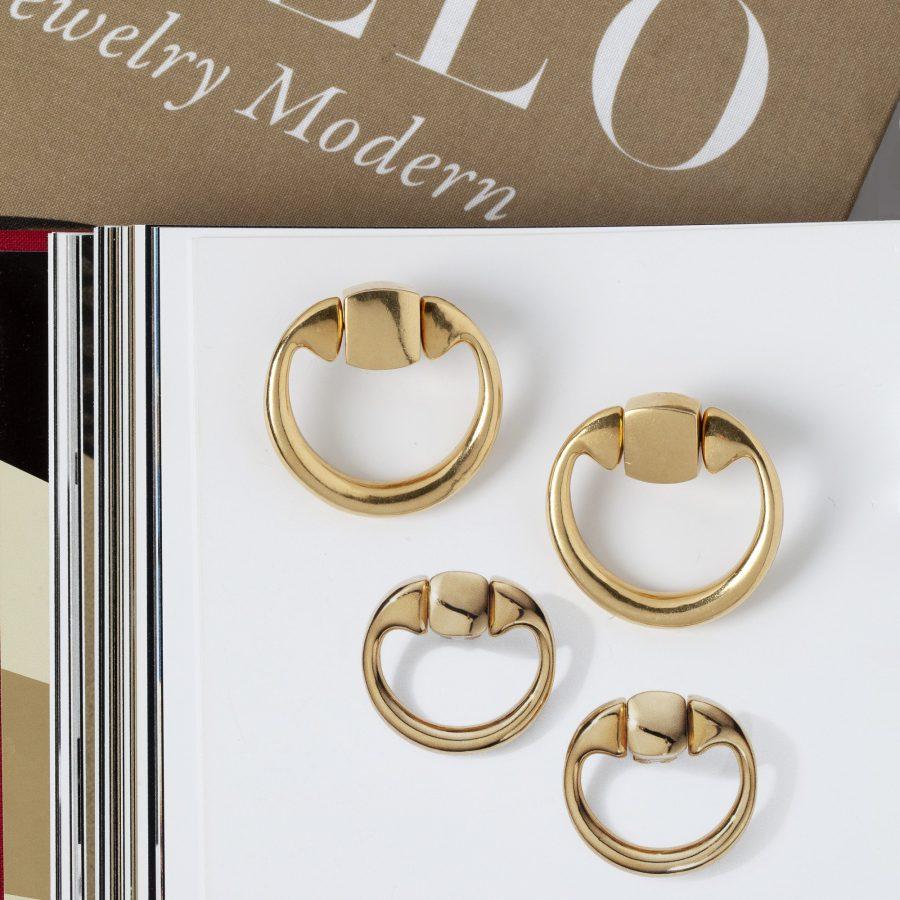Aldo Cipullo voor Cartier New York oorbellen goud 1971