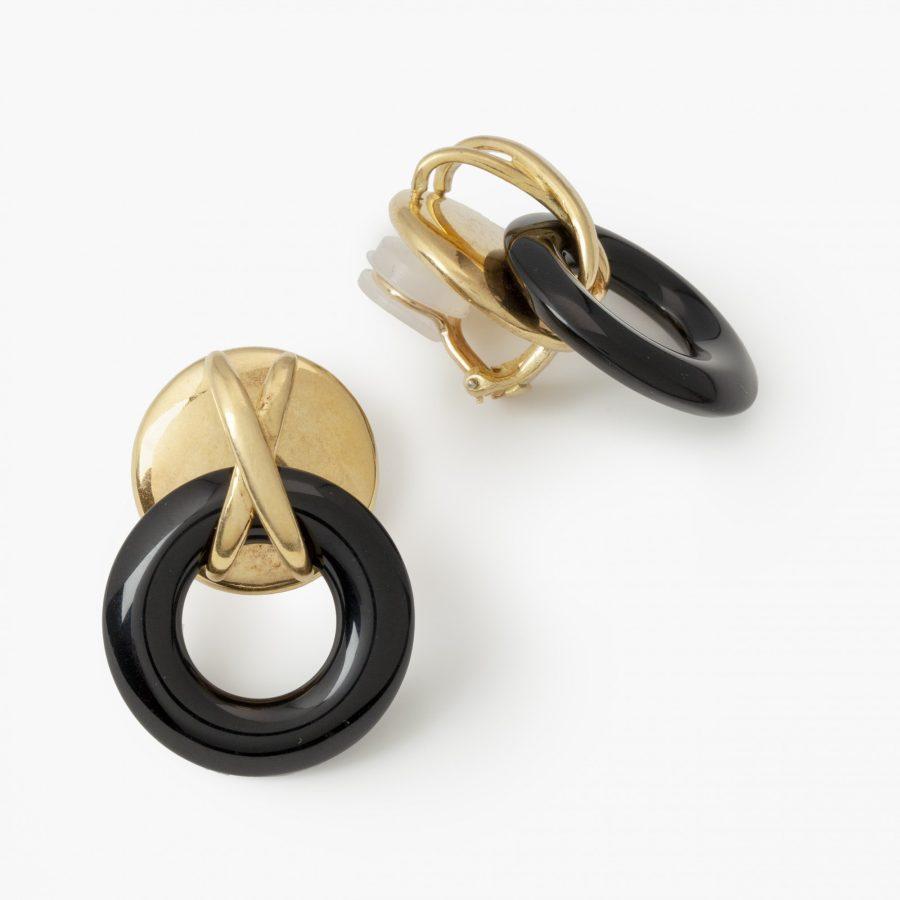 Oorbellen onyx ringen Aldo Cipullo voor Cartier New York, 1972